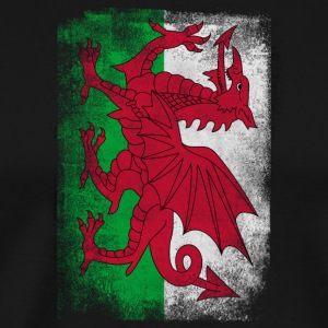 Wales Flag Proud Welsh Vintage Distressed Shirt - Herre premium T-shirt
