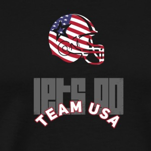 Usa Football Touch down flag America Sports defenes - Men's Premium T-Shirt