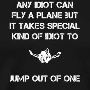 Skydiver jump out of planes - Men's Premium T-Shirt