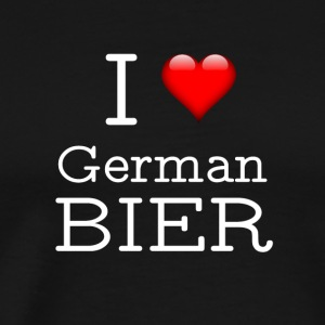 I Love German Beer - Men's Premium T-Shirt