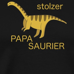 Proud dad proud Papasaurier Barosaurus - Men's Premium T-Shirt