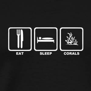Eat sleep corals mit Text - Männer Premium T-Shirt
