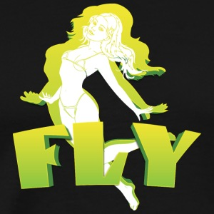 fly Girl - Premium-T-shirt herr