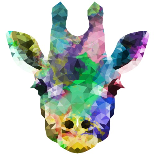 Polygon Giraffe - Männer Premium T-Shirt