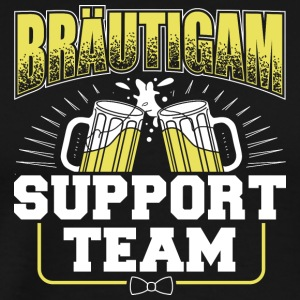 Brudgummen Support Team - Premium-T-shirt herr