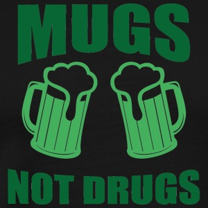 Ireland / St. Patrick's Day: Mugs, niet Drugs - Mannen Premium T-shirt