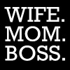 WIFE MOM BOSS WMB - Mannen Premium T-shirt