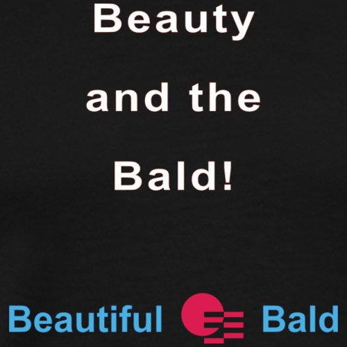 Beauty and the bald-w - Mannen Premium T-shirt
