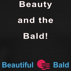 Beauty and the bald-w - Mannen Premium T-shirt