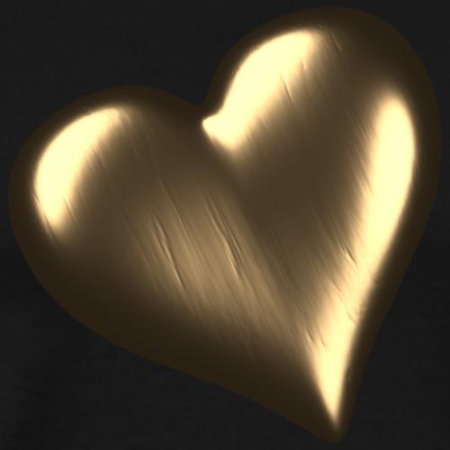 Herz aus Gold / Heart of Gold - Männer Premium T-Shirt