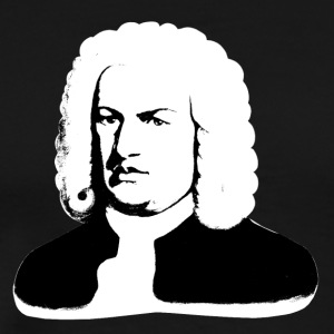 Johann Sebastian Bach abstract in black and white - Men's Premium T-Shirt