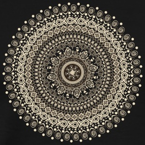 Mandala in beige-brown tones - Men's Premium T-Shirt