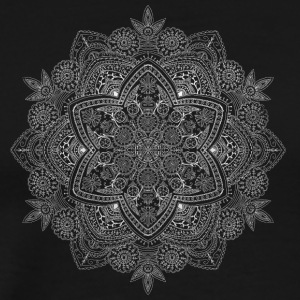 Mandala hand drawn in white - Men's Premium T-Shirt