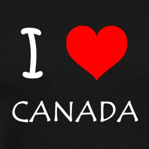 I Love Canada - Premium T-skjorte for menn