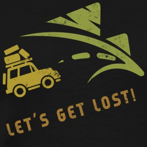 Camping Lets Get Lost - T-shirt Premium Homme