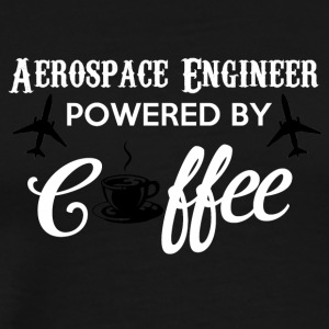 Aerospace Engineer Powered by Coffee - Mannen Premium T-shirt