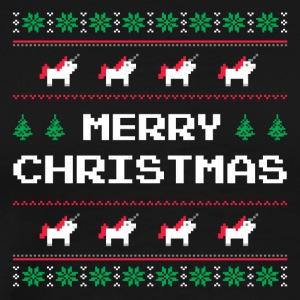 Merry Christmas | Ugly Sweater - Unicorn - Mannen Premium T-shirt