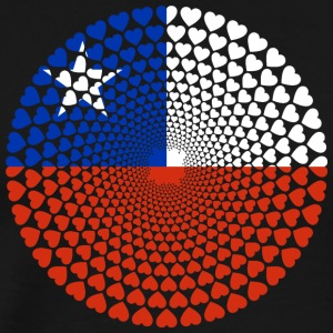 Chile Love heart mandala - Men's Premium T-Shirt