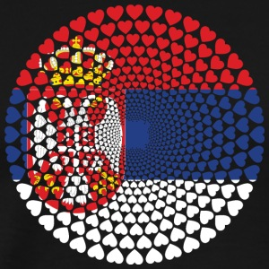 Serbia Serbia Србија Srbija Love HEART Mandala - Men's Premium T-Shirt