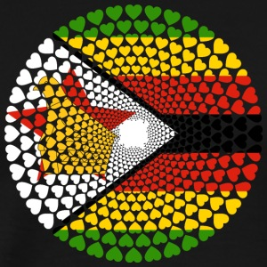 Zimbabwe Zimbabwe Great Zimbabwe Love HEART Mandala - Men's Premium T-Shirt