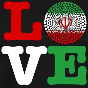 IRAN HEART - Premium T-skjorte for menn