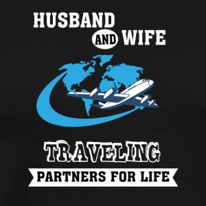 Husband And Wife, Partners for Life - Traveling - Men's Premium T-Shirt