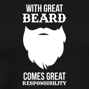 at give skjorte Funny Beard - Herre premium T-shirt
