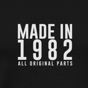 MADE IN 1982 - VERJAARDAG - Mannen Premium T-shirt