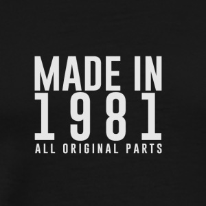 MADE IN 1981 - GEBOORTEJAAR - Mannen Premium T-shirt