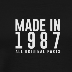 MADE IN 1987 - alle originele PARTS - Mannen Premium T-shirt