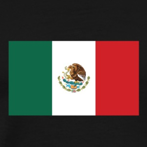 National Flag Of Mexico - Herre premium T-shirt