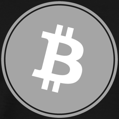 Bitcoin in Gray color. - Männer Premium T-Shirt