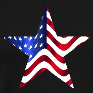 USA Amerika sjunker Stars and Stripes Star - Premium-T-shirt herr