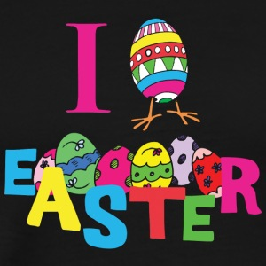 I Love Easter - Herre premium T-shirt