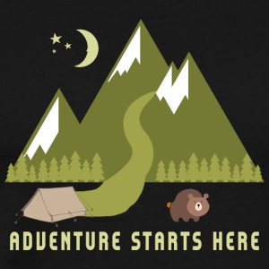 Camping Adventure Starts Here - T-shirt Premium Homme