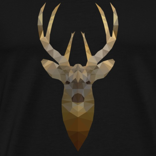 Low Poly 2D - Rendier - Mannen Premium T-shirt