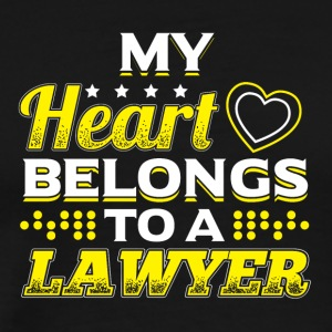My Heart Belongs To A Lawyer - Men's Premium T-Shirt