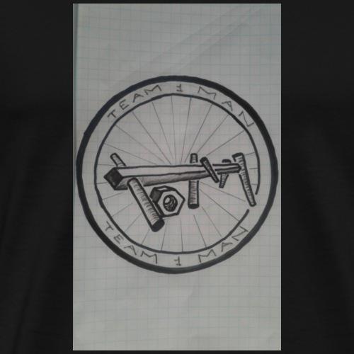 team 1 man logo - Premium T-skjorte for menn
