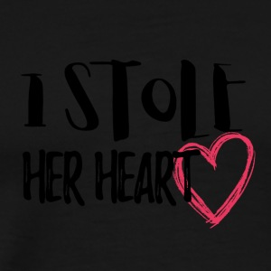 Wedding / Marriage: I stole her heart - Men's Premium T-Shirt
