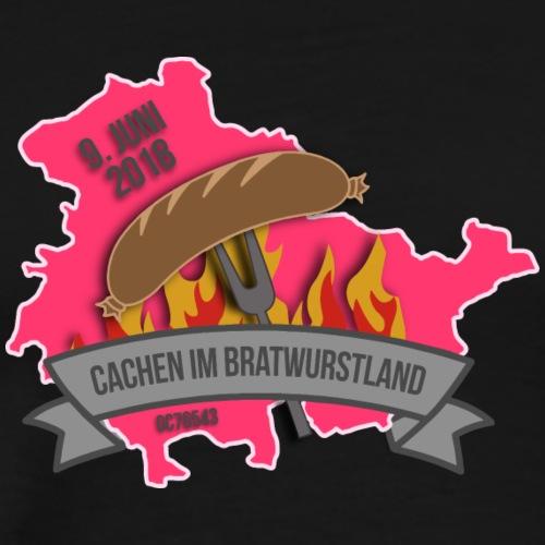 Cachen im Bratwurstland: Edition magenta - Männer Premium T-Shirt