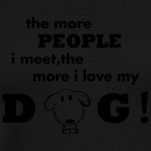 people and my dog - Männer Premium T-Shirt