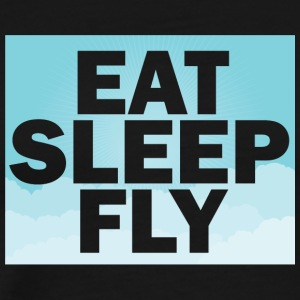 Piloto: Eat, Sleep, Fly, Repetir - Camiseta premium hombre