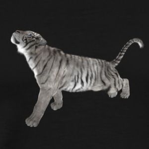 withe tiger - Premium-T-shirt herr