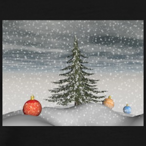 christmas_snow - Premium-T-shirt herr