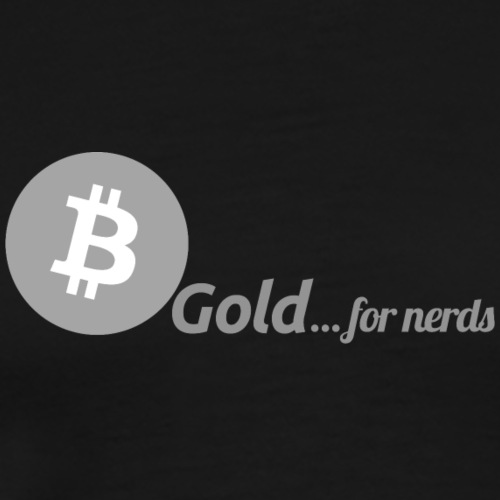 Bitcoin, gold for nerds. Gray version. - Männer Premium T-Shirt