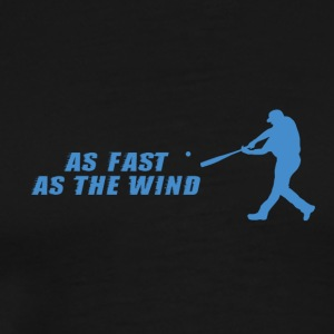 Baseball: På kun The Wind - Herre premium T-shirt