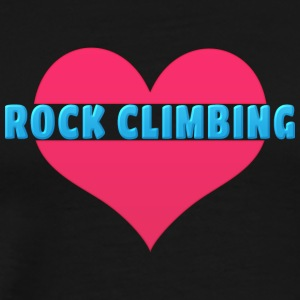 Love Rock Climbing - Men's Premium T-Shirt