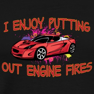 I enjoy putting out engine fire red sportscar - Men's Premium T-Shirt