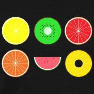 DIGITAL FRUITS - Digital Hipster fruits - Men's Premium T-Shirt