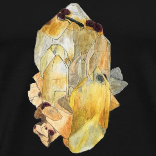 Bergkristall mit Granat - Männer Premium T-Shirt
